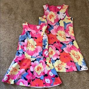 Girls floral tea dress